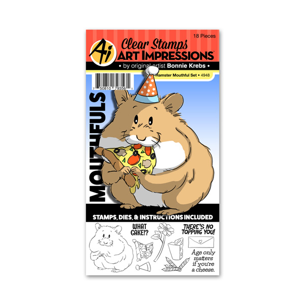 Bild 1 von Art Impressions Clearstamps Stanze Hamster Mouthful Set