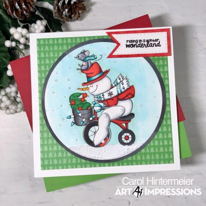 Bild 1 von Art Impressions Clear Stamps with dies Snowman Wheelie