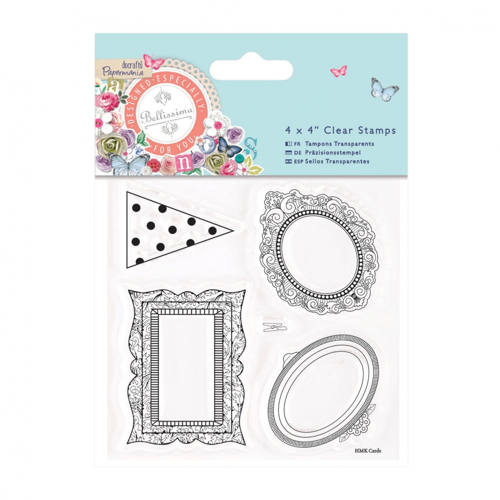 Papermania Clearstamp - Bellissima - Mini Rahmen - StempelBar Onlineshop