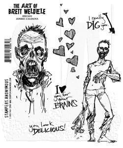 Bild 1 von The Art of Brett Weldele Cling Mount Stamps Gummistempel - Zombie Casanova