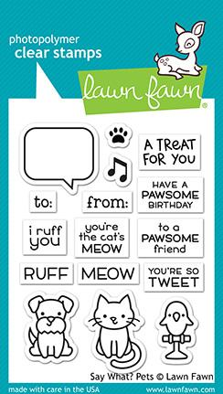 Bild 1 von Lawn Fawn Clear Stamps  - say what? pets