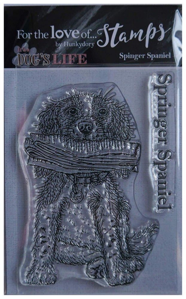 Bild 1 von For the love of...Stamps by Hunkydory - It's a Dog's Life Clear Stamp - Springer Spaniel