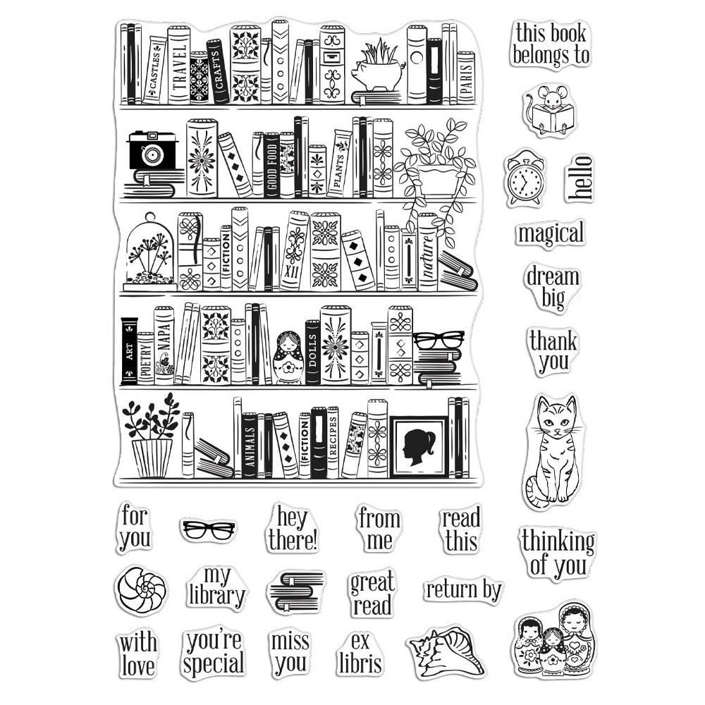 Bild 1 von Hero Arts Color Layering Clear Stamps - Bookcase Peek-A-Boo