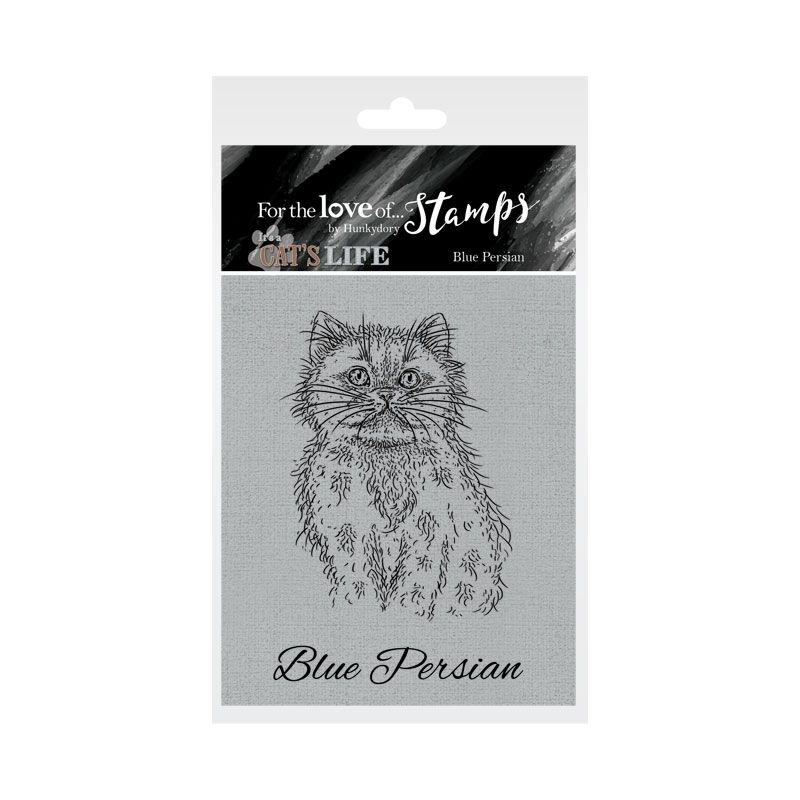 Bild 1 von For the love of...Stamps by Hunkydory - It's A Cat's Life Clear Stamp - Blue Persian
