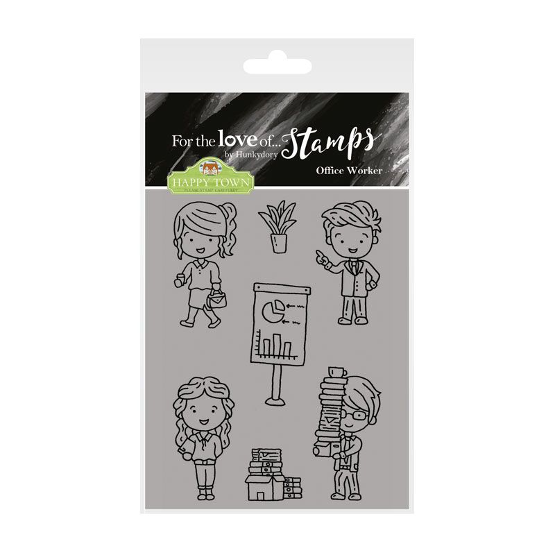 Bild 1 von For the love of...Stamps by Hunkydory - Happy Town - Office Worker - Büro