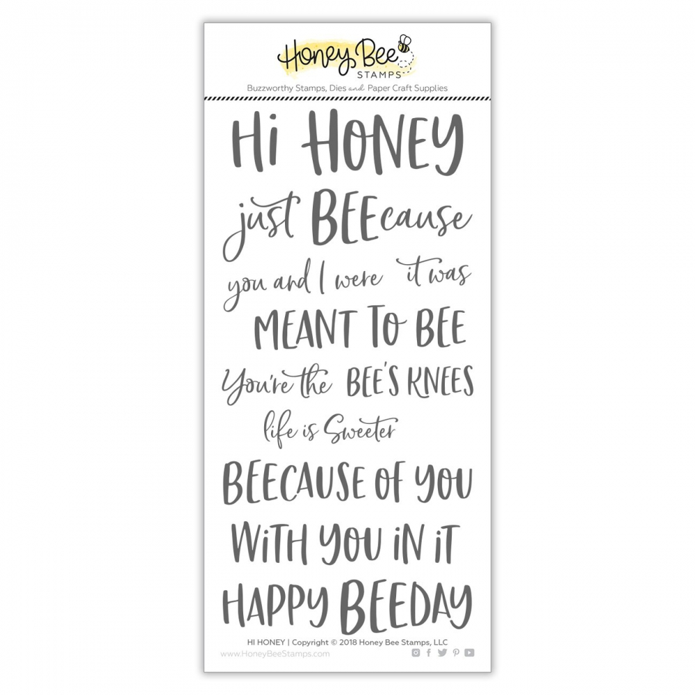 Bild 1 von Honey Bee Stamps Clearstamp - Hi Honey - Textstempel