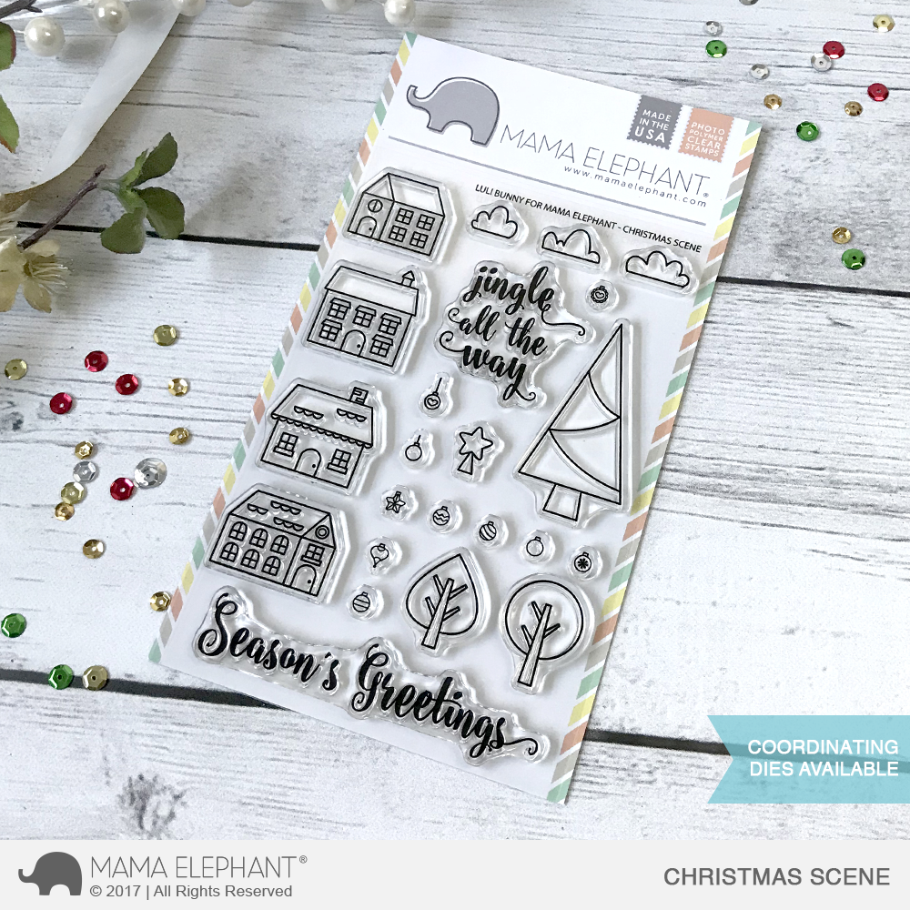 Bild 1 von Mama Elephant - Clear Stamps CHRISTMAS SCENE
