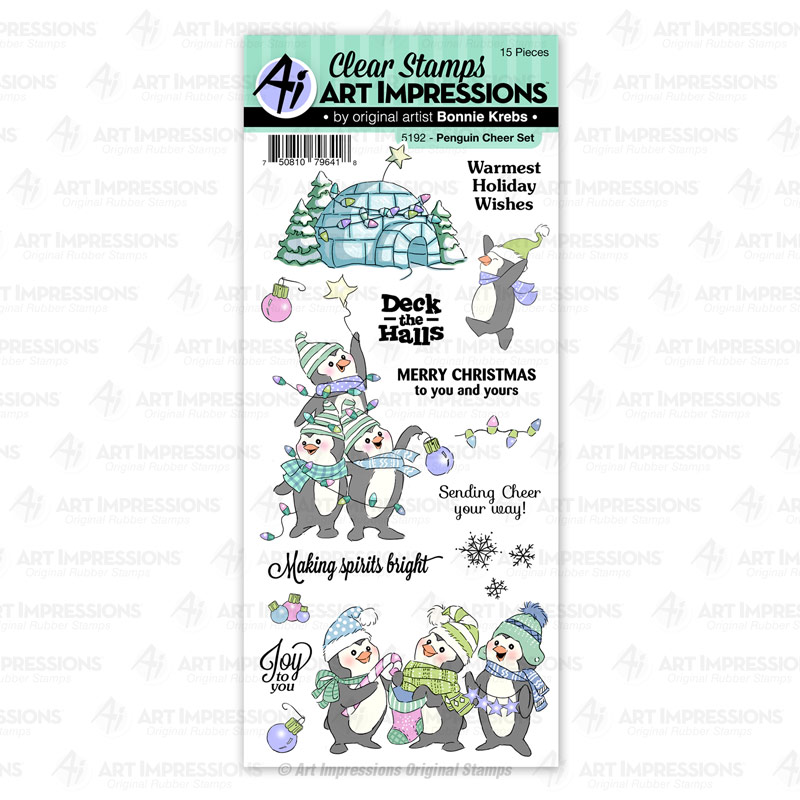 Bild 1 von Art Impressions Clear Stamps Penguin Cheer Set - Weihnachtspinguine