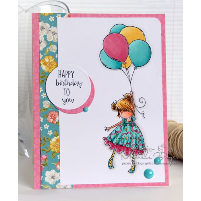 Stamping Bella EB306 Cling Blossom Loves Balloons
