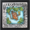 Bild 2 von Stampendous! Monkey Cling Rubber Stamps And Cutting Dies Set - Stempel mit Stanzen Affe