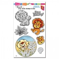 Stampendous! Lion Cling Rubber Stamps And Cutting Dies Set - Stempel mit Stanzen Löwe