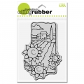 Gummistempel CLING Sunflower Scene