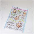 Heffy Doodle Clear Stamps Set - Chimply The Best - Stempel Äffchen