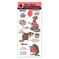 Art Impressions Clear Stamps Valentine Critters Set