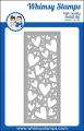 Whimsy Stamps Die Stanze  -  Slimline Hearts Background Die
