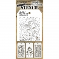 Tim Holtz Collection Schablone Mini Layering Stencil Set #10