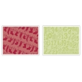 Sizzix Prägefolder Textured Folders Christmas Stockings Set