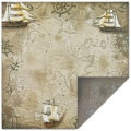 Scrapbookpapier Treasure Map