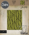 Sizzix Texture Fades A2 Embossing Folder Leafy By Tim Holtz