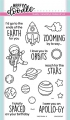 Heffy Doodle Clear Stamps Set - Spaced Out - Stempel Weltall