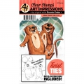 Art Impressions Clearstamps  und Stanzen - Twist Ties Stamp & Die Set - Otter