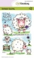 CraftEmotions Stempel - clearstamps A6 - Sheep 1 Carla Creaties