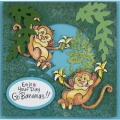 Bild 6 von Stampendous! Monkey Cling Rubber Stamps And Cutting Dies Set - Stempel mit Stanzen Affe