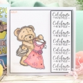 Bild 3 von For the love of...Stamps by Hunkydory - Clearstamps Teddy Loves... A Pretty Dress