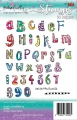 Polkadoodles Clear Stamps - Funky Alphabet