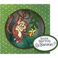 Bild 3 von Stampendous! Monkey Cling Rubber Stamps And Cutting Dies Set - Stempel mit Stanzen Affe