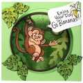 Bild 5 von Stampendous! Monkey Cling Rubber Stamps And Cutting Dies Set - Stempel mit Stanzen Affe