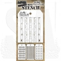 Tim Holtz Collection Schablone Mini Layering Stencil Set #36