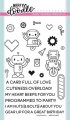 Heffy Doodle Clear Stamps Set -  Bots of Love - Stempel