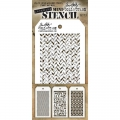 Tim Holtz Collection Schablone Mini Layering Stencil Set #13