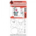 Art Impressions Clearstamps PopCard Panda