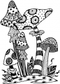 Clearstamps Zendoodles Toadstools Ready To Go