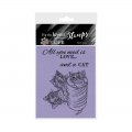 For the love of...Stamps by Hunkydory - It's A Cat's Life Clear Stamp - Kitty Cats