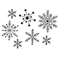 WOODWARE Clearstamps  Clear Magic Singles  SNOWFLAKE MEDLEY