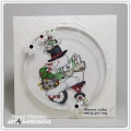 Bild 5 von Art Impressions Clear Stamps with dies Snowman Wheelie