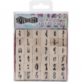 Dyan Reaveley's Dylusions Mounted Stamp - Alphabet Set