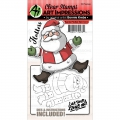 Art Impressions Clearstamps & Stanz-Set - Flutters Stamp & Die Set - Santa