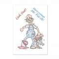 For the love of...Stamps by Hunkydory - Clearstamps Look out! Here comes Mr. Fix It!