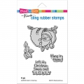 Cling-Rubber-Stamps---Sloth-Christmas-Rubber-Stamp