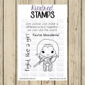 Kindred Stamps Clearstamps She's Wonderful