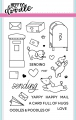 Heffy Doodle Clear Stamps Set - Yappy Happy Mail - Stempel Post ist da