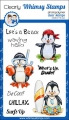 Bild 1 von Whimsy Stamps Clear Stamps  - Penguin Life's a Beach - Pinguine am Strand