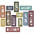 Sizzix Thinlits Dies By Tim Holtz Block Calendar Words