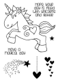 WOODWARE Clearstamps  Clear Magic Singles - Unicorn - Einhorn