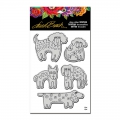 Stampendous Cling Stamp Gummistempel Laurel Burch Dog Park Stamp Set