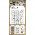 Tim Holtz Collection Schablone Mini Layering Stencil Set #16
